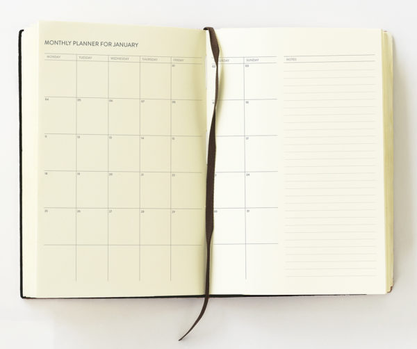 2021 Diary pages