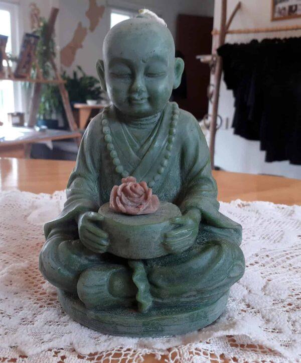 Buddha candle green