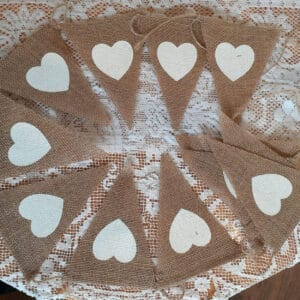Heart Bunting Flags