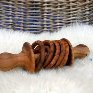 Wooden handmade rattle