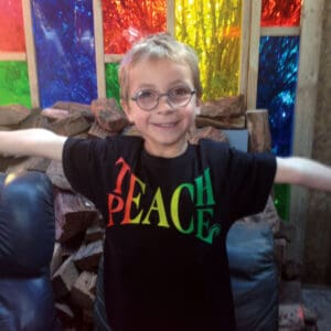 Teach Peace childrens tshirt