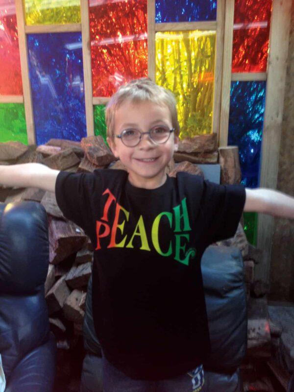 Teach Peace childrens tshirt