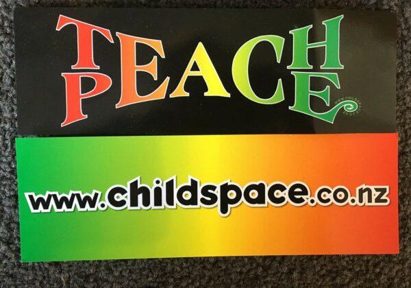Teach Peace Bookmark