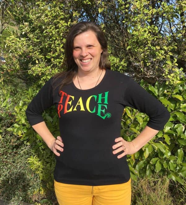 Teach Peace Women's Scoop neck T=shirt
