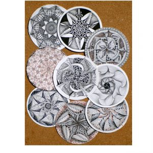 Zentangle - Tin of zendala tiles