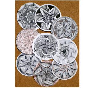 Zentangle - Tin of zendala tiles